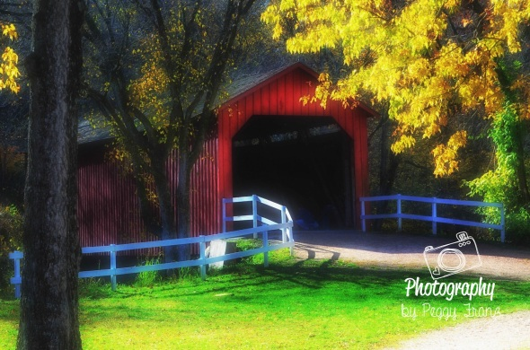 Sandy Creek Cover Bridge Fall Colors
